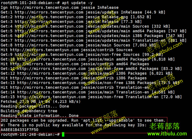 Debian镜像升级update源出现错误解决方案