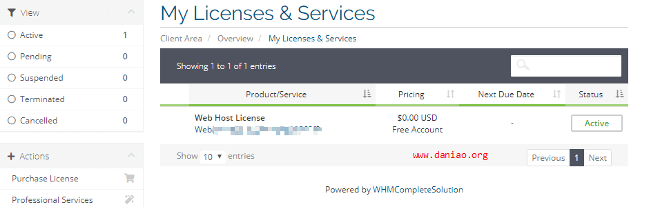 WHMCS 最新伪授权方法图文教程 - 需要支付1元